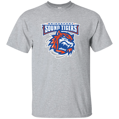 Bridgeport Sound Tigers Primary Logo Youth Short Sleeve T-Shirt