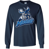 Manitoba Moose Primary Logo Adult Long Sleeve T-Shirt