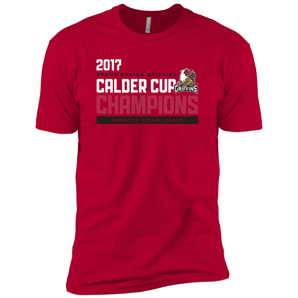 Grand Rapids Griffins 2017 Calder Cup Champions Athletic Next Level Premium Short Sleeve T-Shirt (red)