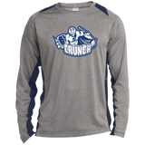 Syracuse Crunch Adult Long Sleeve Heather Colorblock Poly T-Shirt