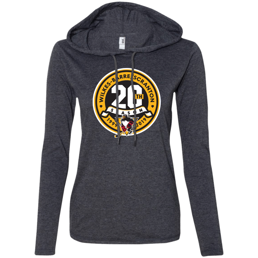 Wilkes-Barre/Scranton Penguins 20th Anniversary Ladies' Long Sleeve T-Shirt Hoodie