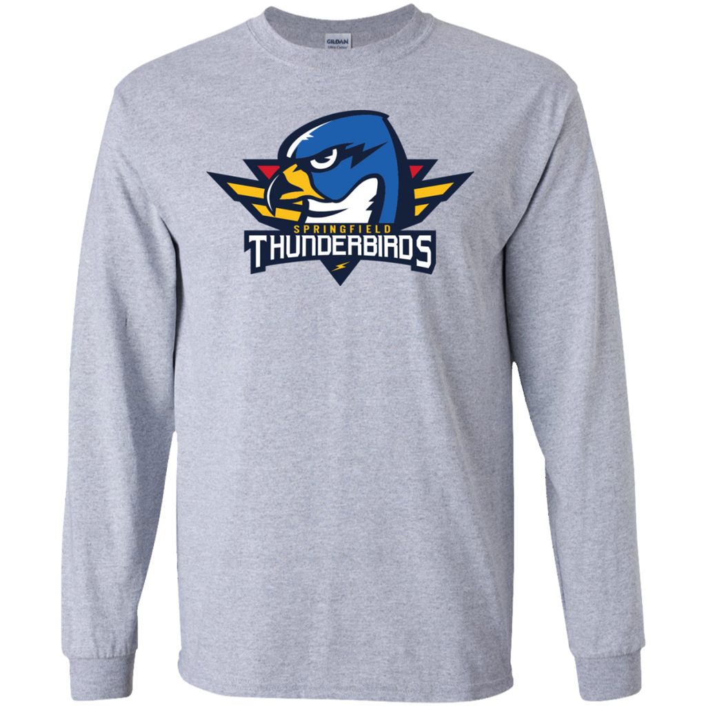 Springfield Thunderbirds Primary Logo Adult Long Sleeve T-Shirt
