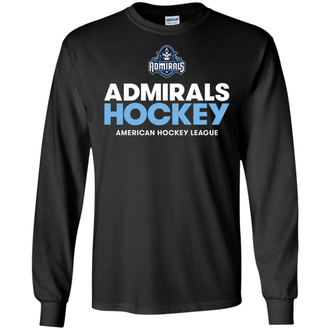 Milwaukee Admirals Hockey Adult Long Sleeve T-Shirt