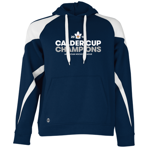 5e6c2fbc81c Toronto Marlies 2018 Calder Cup Champions Crown Adult Colorblock Hoodie
