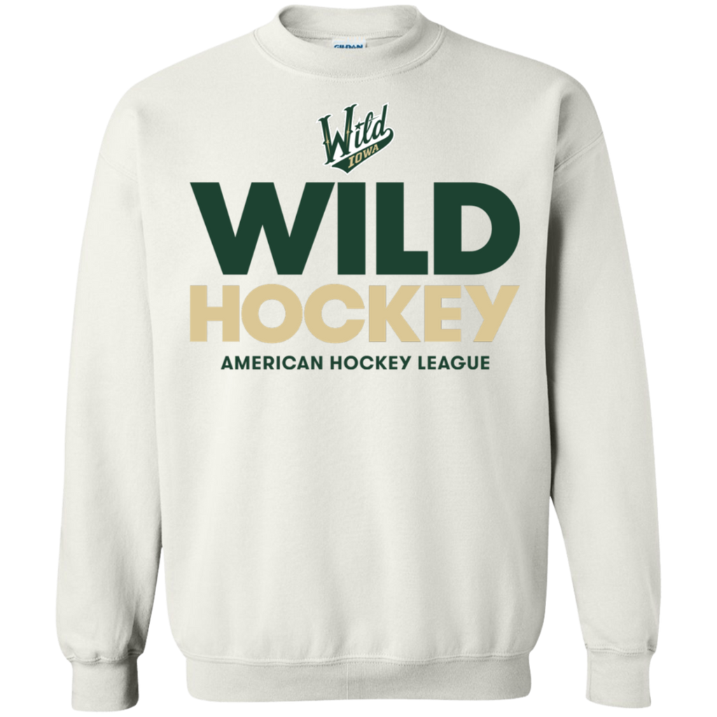 Iowa Wild Hockey Logo Adult Crewneck Pullover