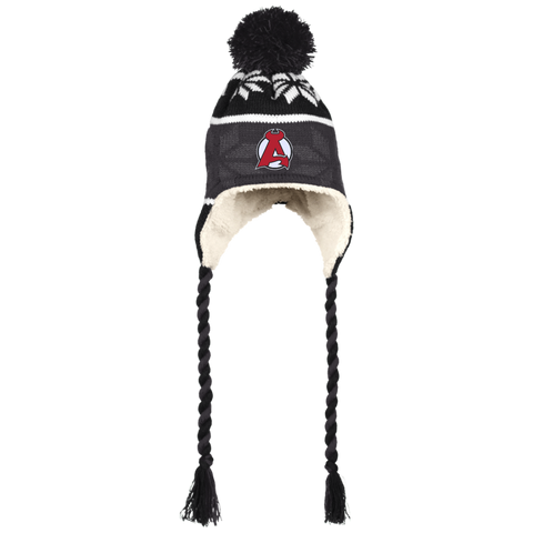 Albany Devils Winter Hat with Ear Flaps and Braids