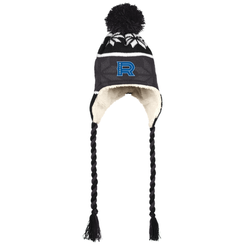 Laval Rocket Winter Hat with Ear Flaps and Braids