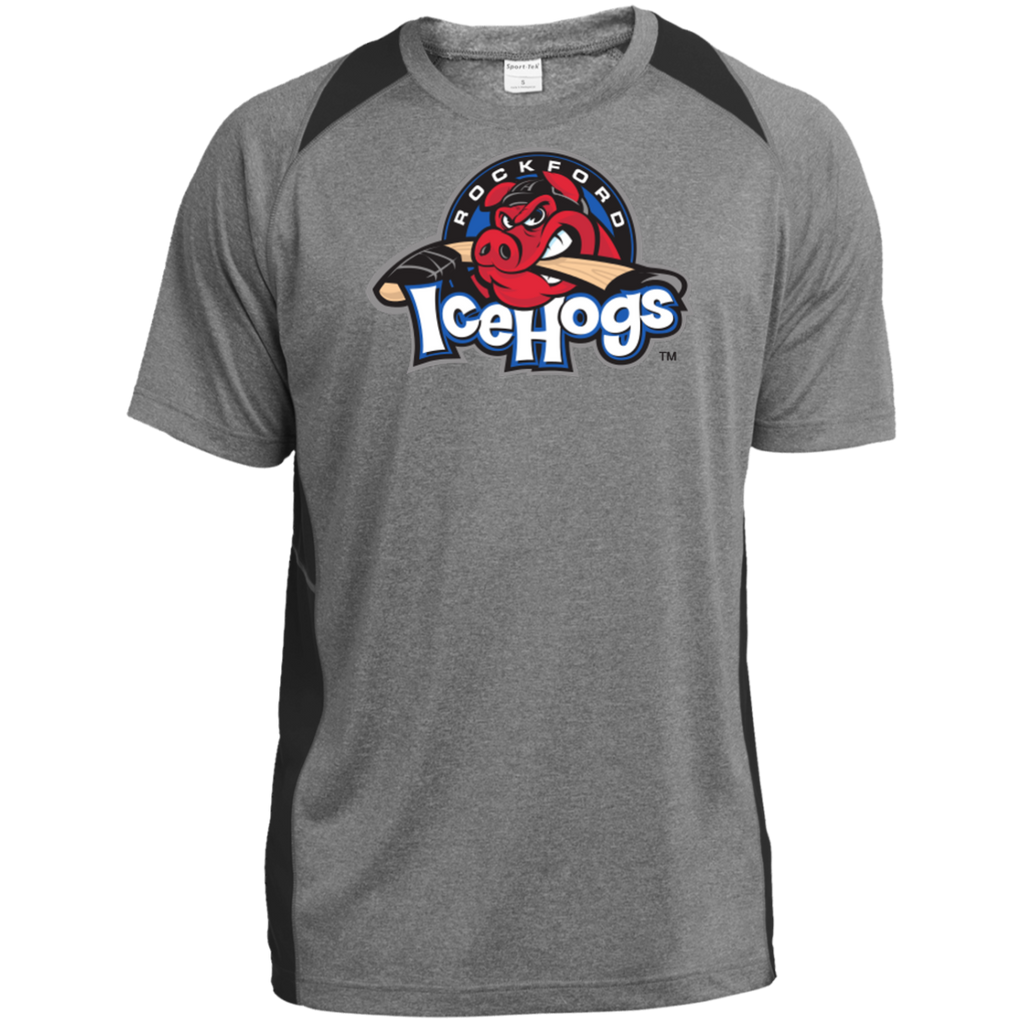 Rockford IceHogs Primary Logo Heather Colorblock Poly T-Shirt