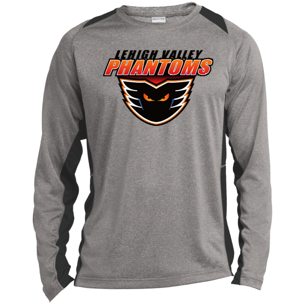 Lehigh Valley Phantoms Adult Long Sleeve Heather Colorblock Poly T-Shirt