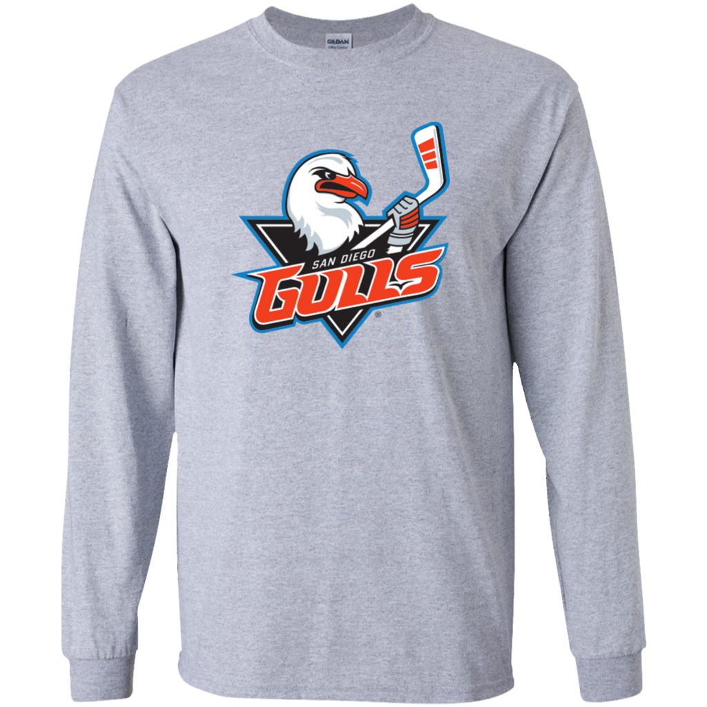 San Diego Gulls Primary Logo Youth Long Sleeve Shirt