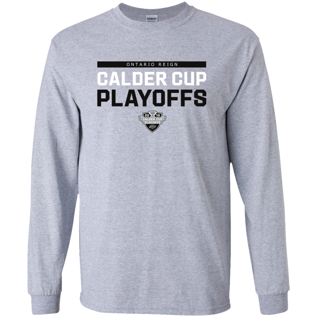 Ontario Reign Adult 2018 Postseason Long Sleeve Cotton T-Shirt