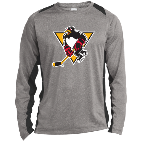 Wilkes-Barre/Scranton Penguins Primary Logo Long Sleeve Heather Colorblock Poly T-Shirt
