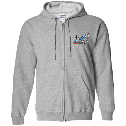 San Jose Barracuda Adult Embroidered Zip Up Hooded Sweatshirt