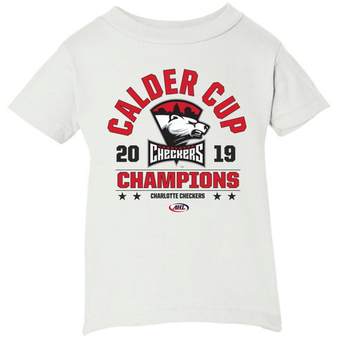 Charlotte Checkers 2019 Calder Cup Champions Infant Arch Short Sleeve T-Shirt