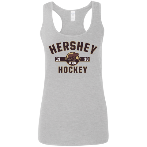 Hershey Bears Established Ladies' Softstyle Racerback Tank
