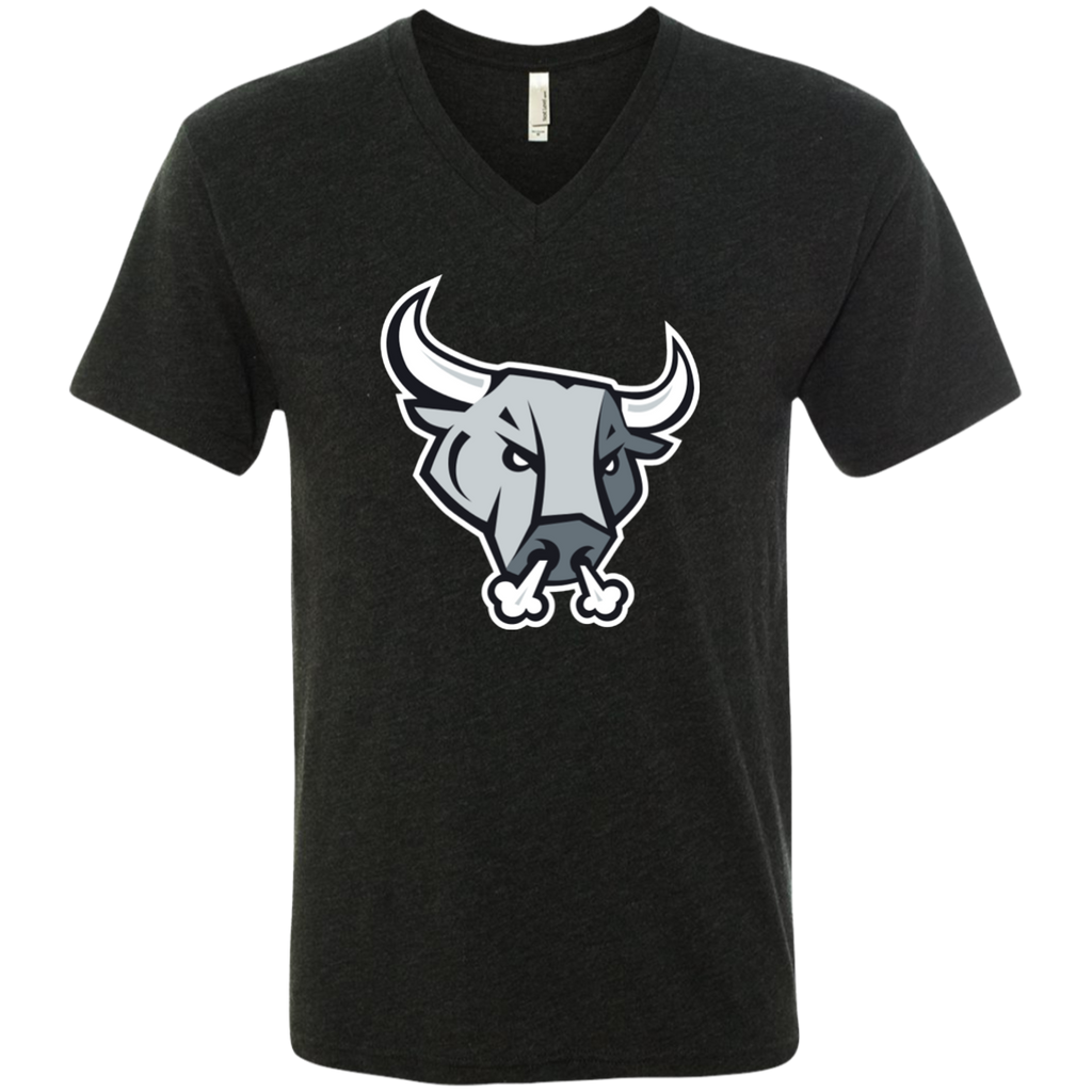 San Antonio Rampage Primary Logo Men's Next Level Triblend V-Neck T-Shirt
