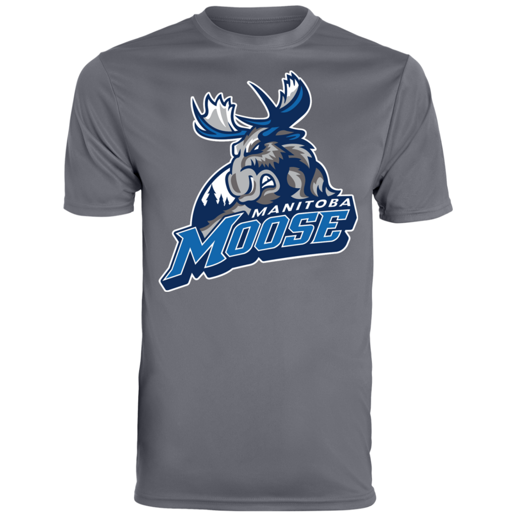 Manitoba Moose Primary Logo Men's Wicking T-Shirt