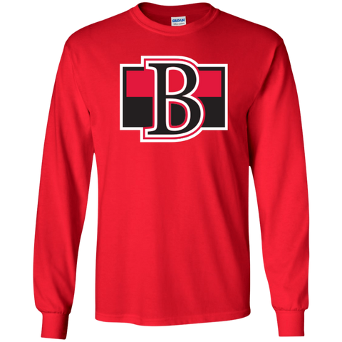 5fa7dc27f1c988 Belleville Senators Primary Logo Adult Long Sleeve Cotton T-Shirt