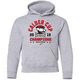 Charlotte Checkers 2019 Calder Cup Champions Youth Arch Pullover Hoodie