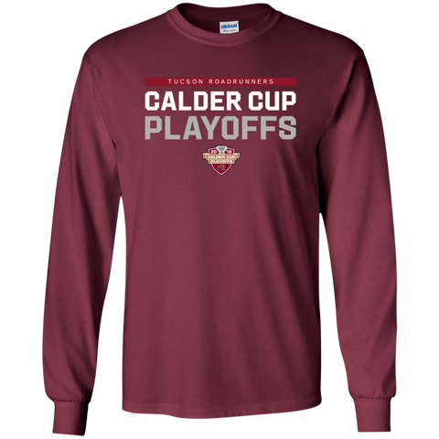Tucson Roadrunners Adult 2018 Postseason Long Sleeve Cotton T-Shirt