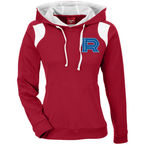 Laval Rocket Team 365 Ladies' Colorblock Poly Hoodie