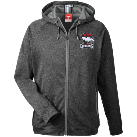 Charlotte Checkers Team 365 Men's Heathered Performance Hooded Jacket