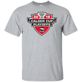 Charlotte Checkers 2019 Calder Cup Playoffs Logo Adult Cotton Short Sleeve T-Shirt