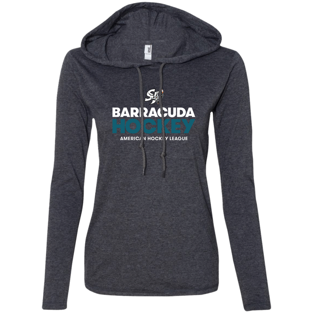 San Jose Barracuda Hockey Primary Logo Ladies' Long Sleeve T-Shirt Hoodie