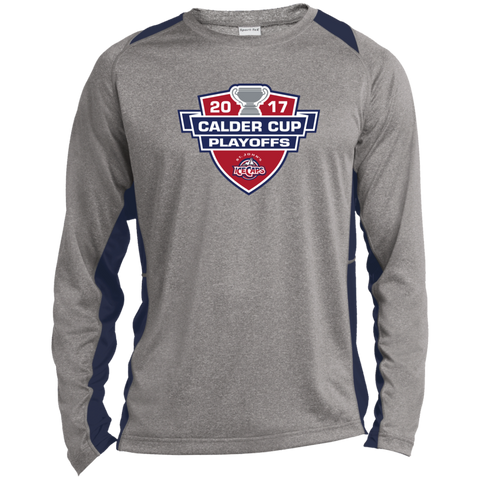 St. John's IceCaps Adult 2017 Calder Cup Playoffs Long Sleeve Heather Colorblock Poly T-Shirt