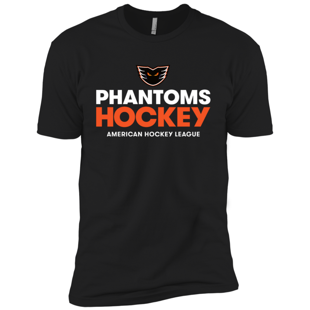 Lehigh Valley Phantoms Hockey Adult Next Level Premium Short Sleeve T-Shirt (Black)