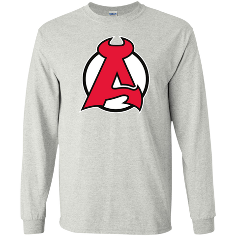 Albany Devils Primary Logo Adult Long Sleeve T-Shirt