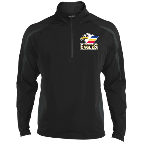 Colorado Eagles Men's Sport Wicking Colorblock 1/2 Zip
