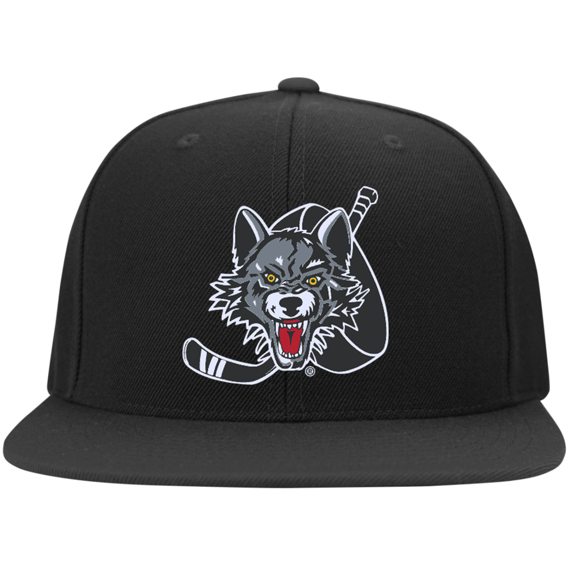 Chicago Wolves Flat Bill High-Profile Snapback Hat – ahlstore.com 4067478bcc9