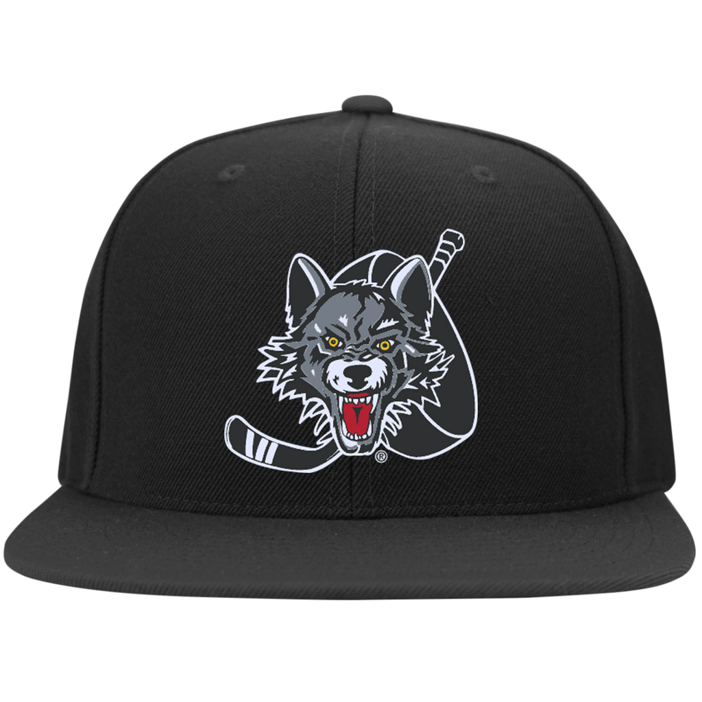 Chicago Wolves Flat Bill High-Profile Snapback Hat
