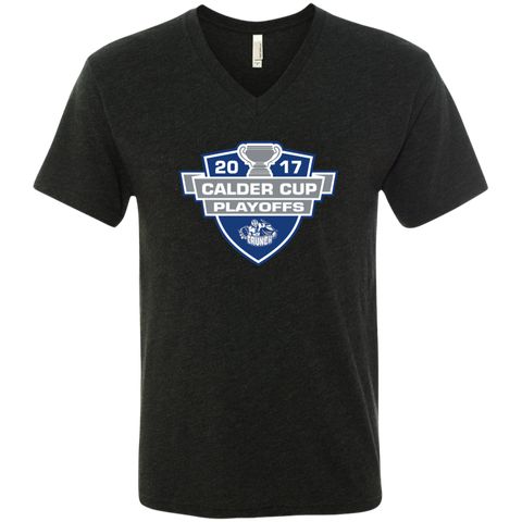 Syracuse Crunch 2017 Calder Cup Playoffs Men's Next Level Triblend V-Neck Tee