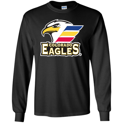 Colorado Eagles Adult Primary Logo Long Sleeve Cotton T-Shirt