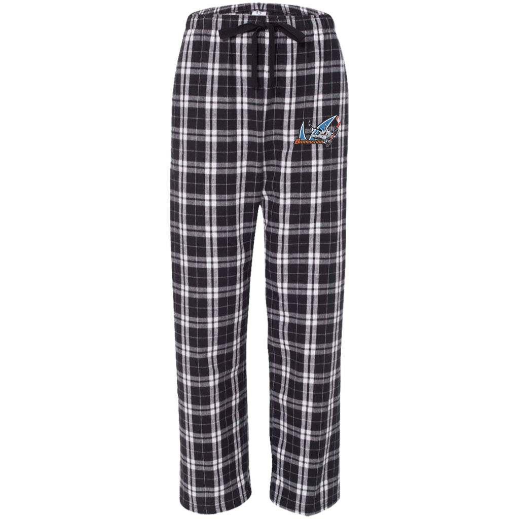 San Jose Barracuda Adult Embroidered Flannel Pants