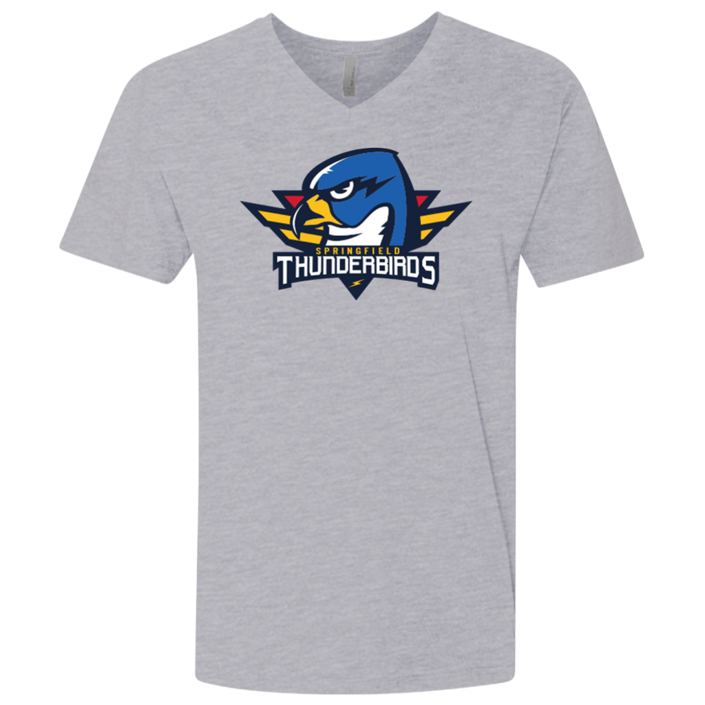 Springfield Thunderbirds Primary Logo Next Level Men's Premium Fitted SS V-Neck