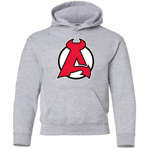 Albany Devils Primary Logo Youth Pullover Hoodie