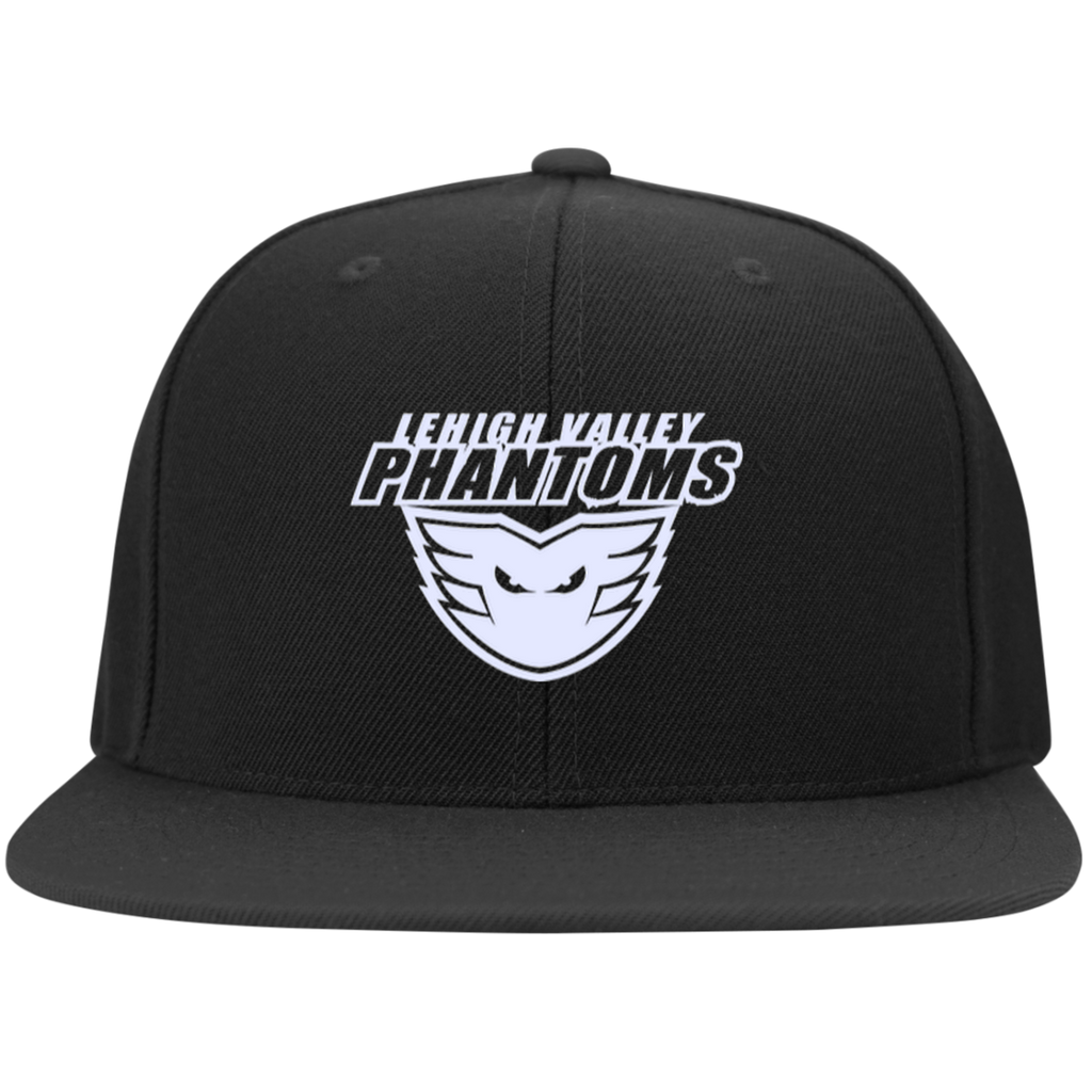 Lehigh Valley Phantoms Flat Bill High-Profile Snapback Hat (White Logo)