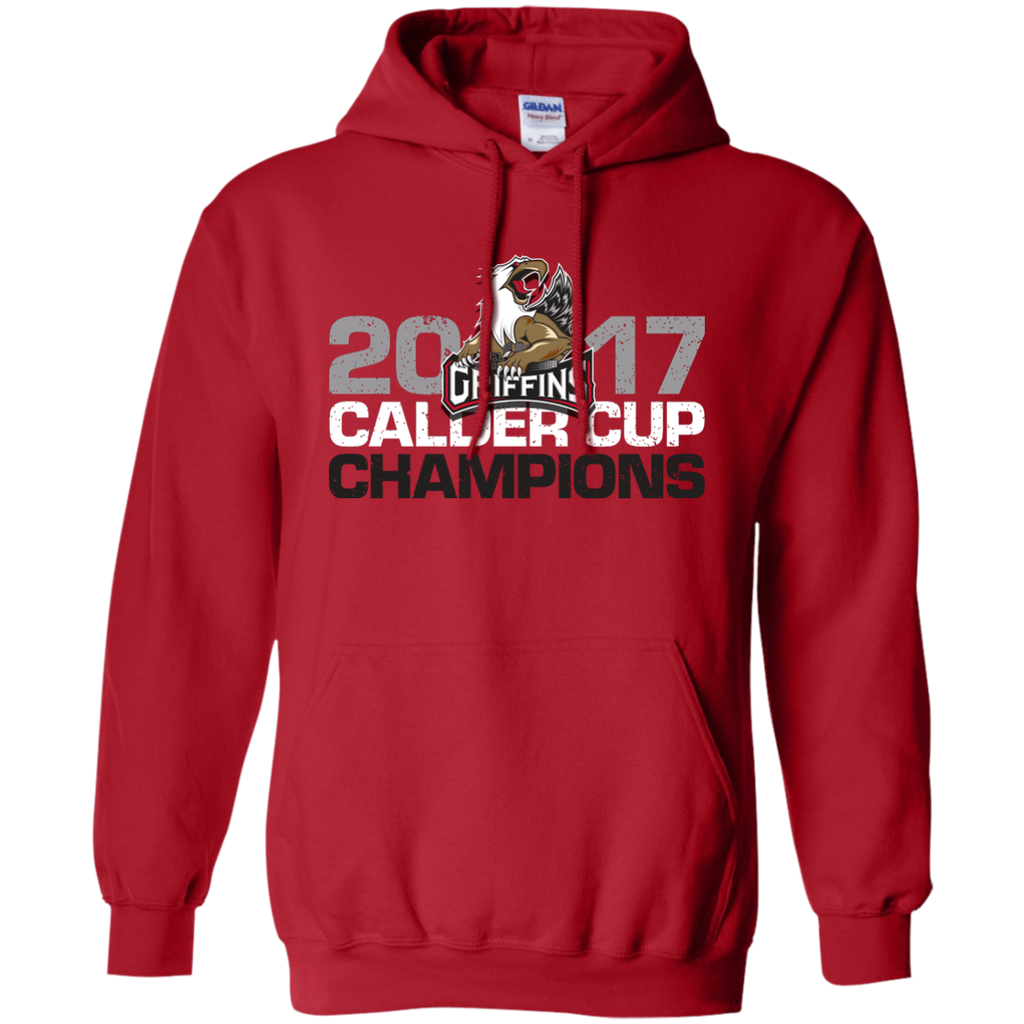 Grand Rapids Griffins 2017 Calder Cup Champions Adult Distressed Pullover Hoodie (red)