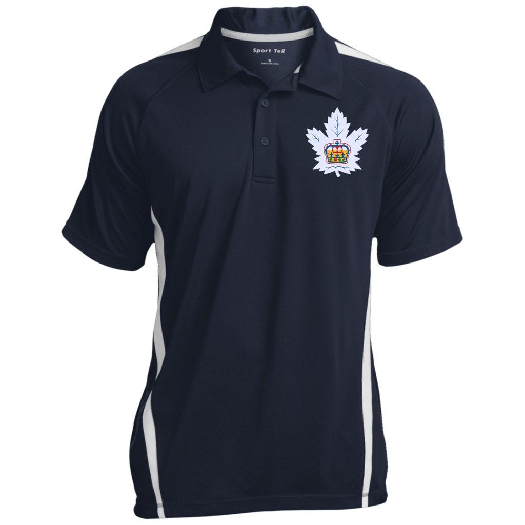 Toronto Marlies Mens Custom Colorblock 3-Button Polo