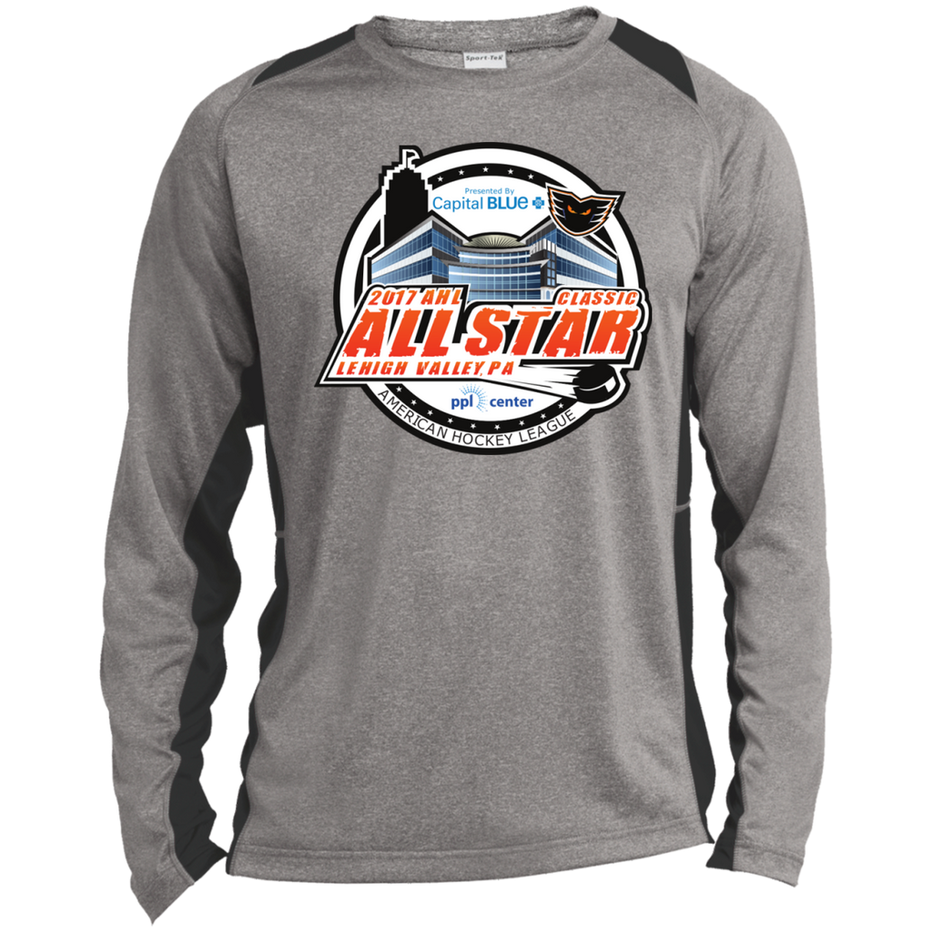 2017 AHL All-Star Classic Long Sleeve Heather Colorblock Poly T-shirt