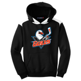 San Diego Gulls Primary Logo Youth Colorblock Pullover Hoodie