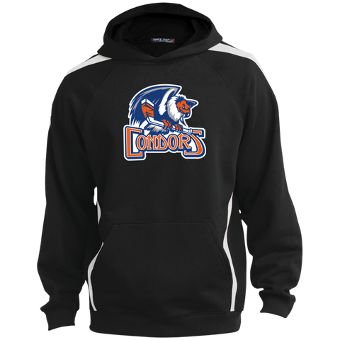 Bakersfield Condors Primary Logo Sleeve Stripe Sweatshirt with Jersey Lined Hood