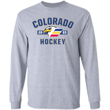 Colorado Eagles Adult Established Cotton Long Sleeve T-Shirt