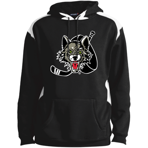 Chicago Wolves Adult Shoulder Colorblock Pullover