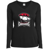 Charlotte Checkers Ladies Long Sleeve Performance Vneck T-Shirt