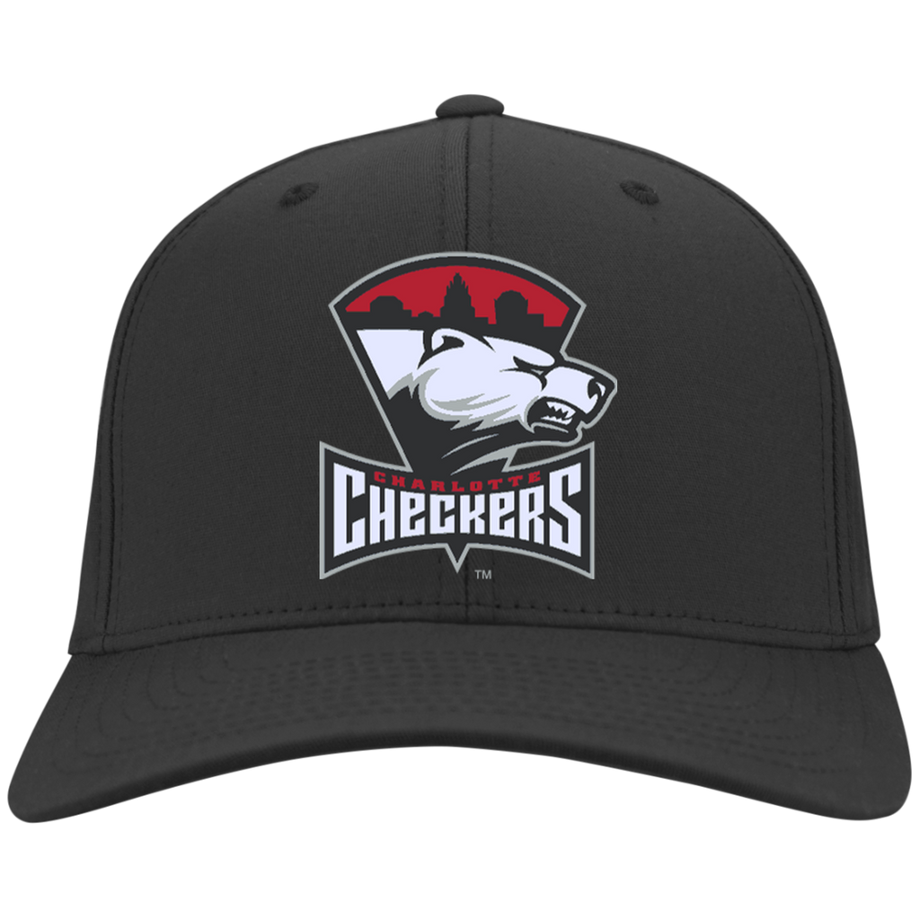 Charlotte Checkers Flex Fit Twill Baseball Cap