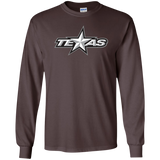 Texas Stars Primary Logo Adult Long Sleeve T-Shirt